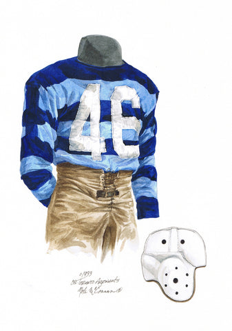 Toronto Argonauts 1933 - Heritage Sports Art - original watercolor artwork - 1