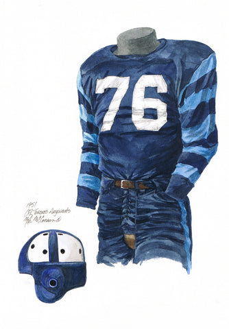 Toronto Argonauts 1951 - Heritage Sports Art - original watercolor artwork - 1