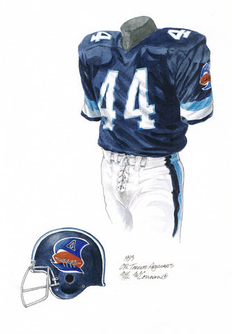 Toronto Argonauts 1983 - Heritage Sports Art - original watercolor artwork - 1