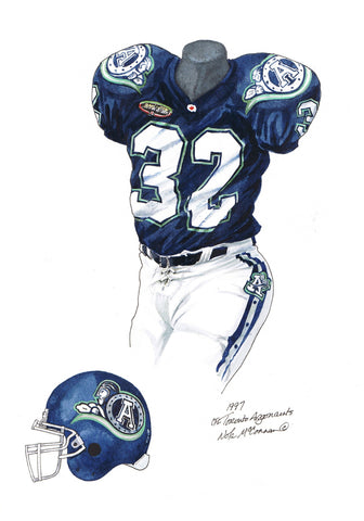 Toronto Argonauts 1997 - Heritage Sports Art - original watercolor artwork - 1