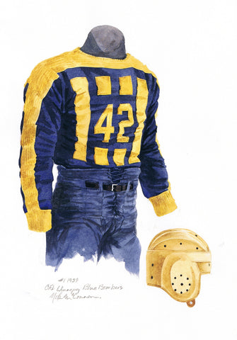 Winnipeg Blue Bombers 1939 - Heritage Sports Art - original watercolor artwork - 1