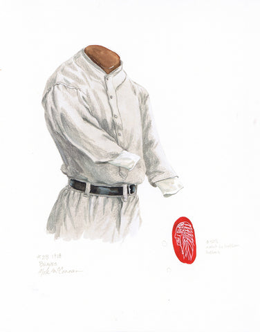 Atlanta Braves 1918 - Heritage Sports Art - original watercolor artwork - 1