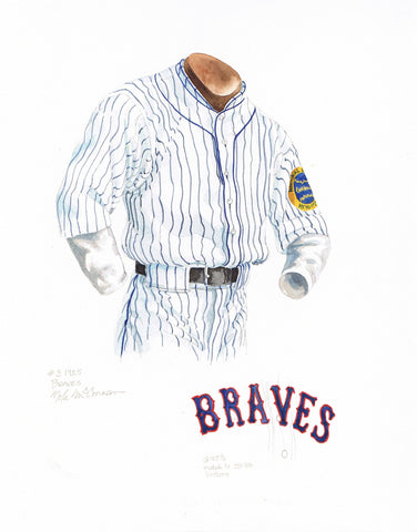 Atlanta Braves 1925 - Heritage Sports Art - original watercolor artwork - 1