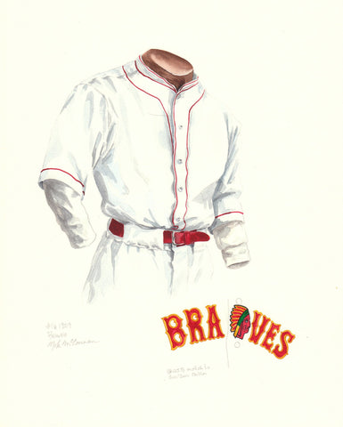 Atlanta Braves 1929 - Heritage Sports Art - original watercolor artwork - 1