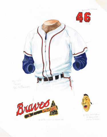 Atlanta Braves 1957 - Heritage Sports Art - original watercolor artwork - 1