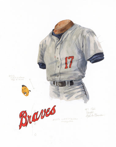 Atlanta Braves 1966 - Heritage Sports Art - original watercolor artwork - 1
