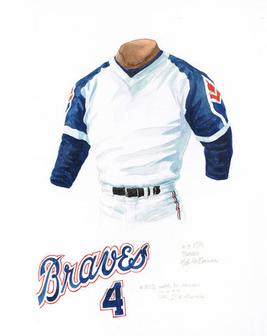 Atlanta Braves 1974 - Heritage Sports Art - original watercolor artwork - 1