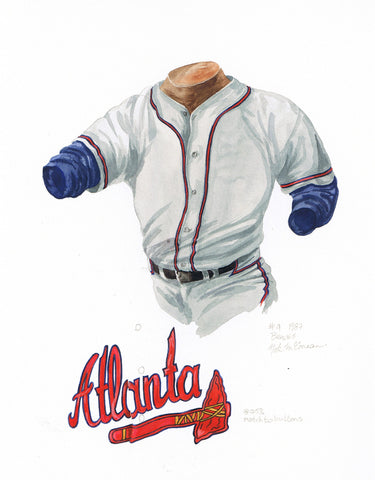 Atlanta Braves 1987 - Heritage Sports Art - original watercolor artwork - 1