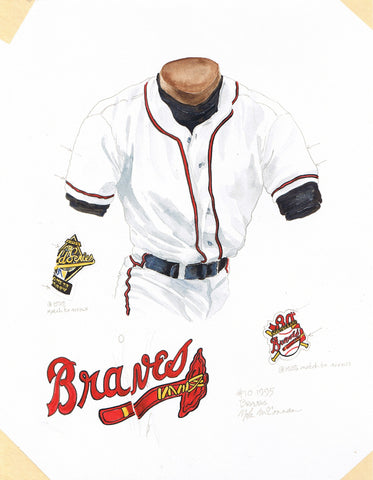 Atlanta Braves 1995 - Heritage Sports Art - original watercolor artwork - 1