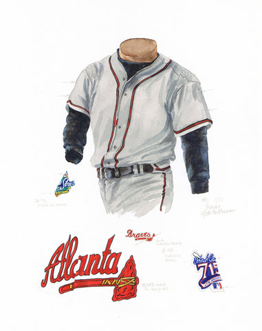 Atlanta Braves 1999 - Heritage Sports Art - original watercolor artwork - 1