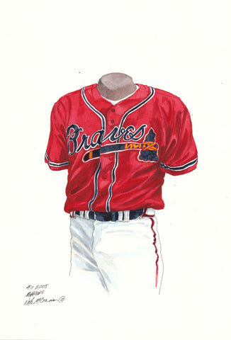 Atlanta Braves 2005 - Heritage Sports Art - original watercolor artwork - 1
