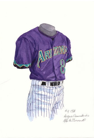 Arizona Diamondbacks 1998 - Heritage Sports Art - original watercolor artwork - 1