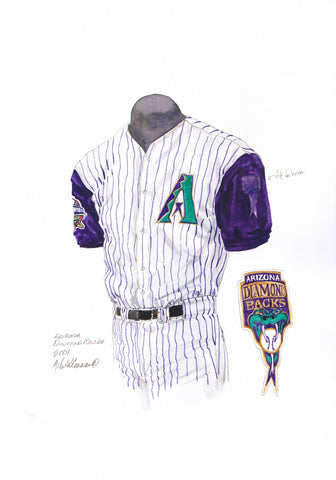 Arizona Diamondbacks 2001 - Heritage Sports Art - original watercolor artwork - 1