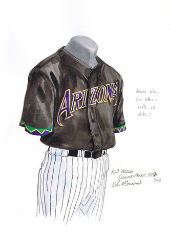 Arizona Diamondbacks 2002 - Heritage Sports Art - original watercolor artwork - 1