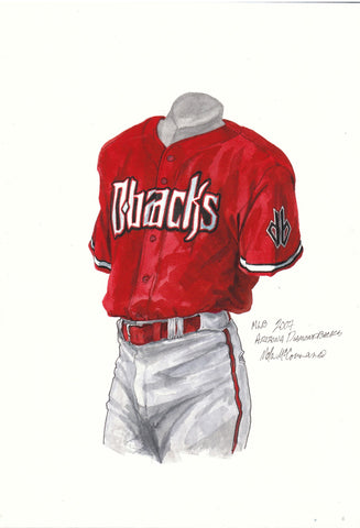 Arizona Diamondbacks 2007 - Heritage Sports Art - original watercolor artwork - 1