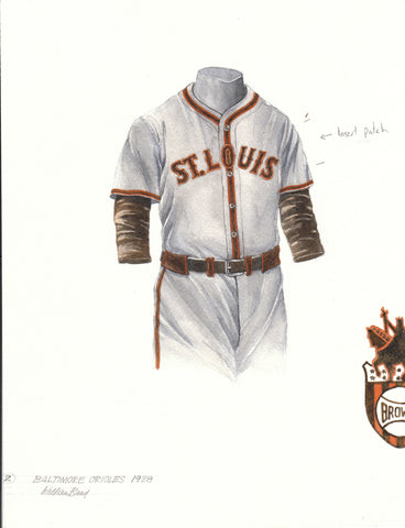 Baltimore Orioles 1938 - Heritage Sports Art - original watercolor artwork - 1