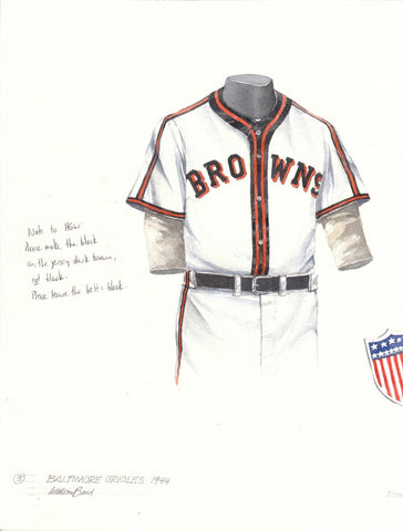 Baltimore Orioles 1944 - Heritage Sports Art - original watercolor artwork - 1