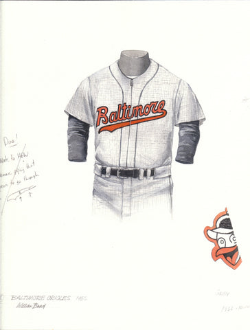 Baltimore Orioles 1956 - Heritage Sports Art - original watercolor artwork - 1