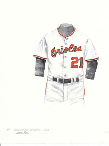 Baltimore Orioles 1966 - Heritage Sports Art - original watercolor artwork - 1