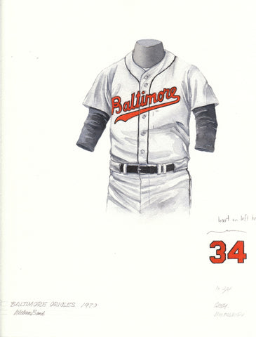 Baltimore Orioles 1970 - Heritage Sports Art - original watercolor artwork - 1