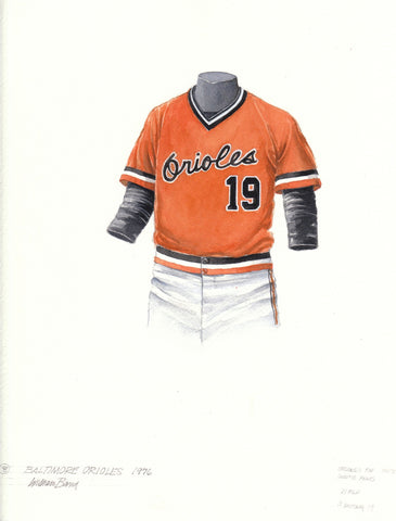 Baltimore Orioles 1976 - Heritage Sports Art - original watercolor artwork - 1