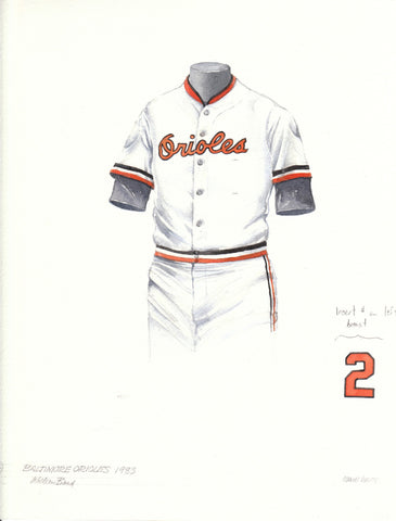 Baltimore Orioles 1983 - Heritage Sports Art - original watercolor artwork - 1