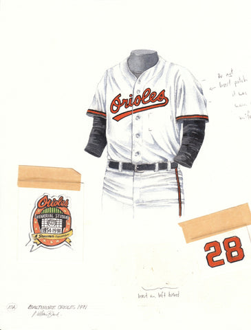 Baltimore Orioles 1991 - Heritage Sports Art - original watercolor artwork - 1