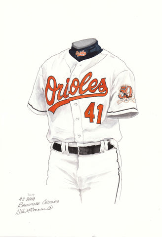 Baltimore Orioles 2004 - Heritage Sports Art - original watercolor artwork - 1