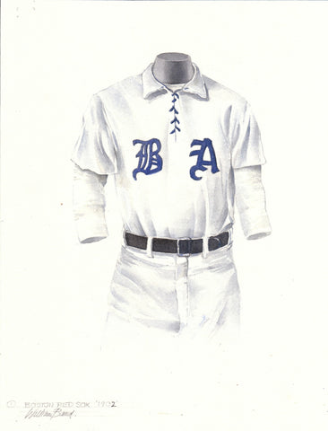 Boston Red Sox 1902 - Heritage Sports Art - original watercolor artwork - 1