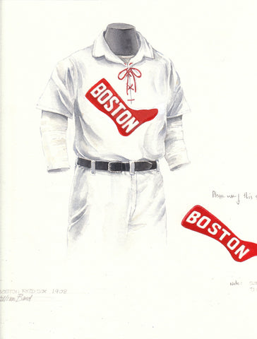 Boston Red Sox 1908 - Heritage Sports Art - original watercolor artwork - 1