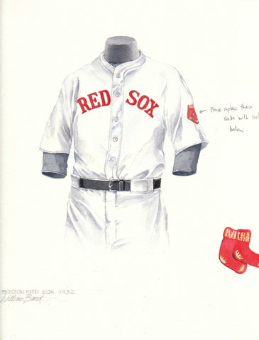 Boston Red Sox 1932 - Heritage Sports Art - original watercolor artwork - 1