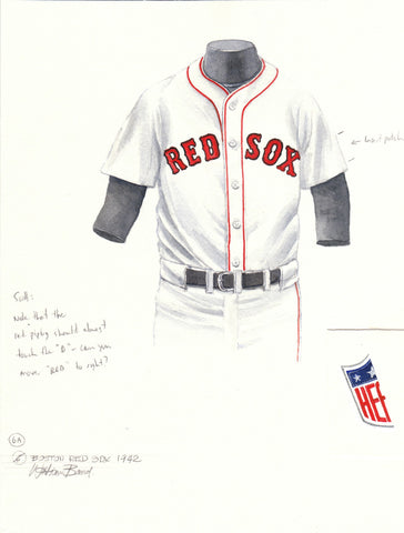 Boston Red Sox 1942 - Heritage Sports Art - original watercolor artwork - 1