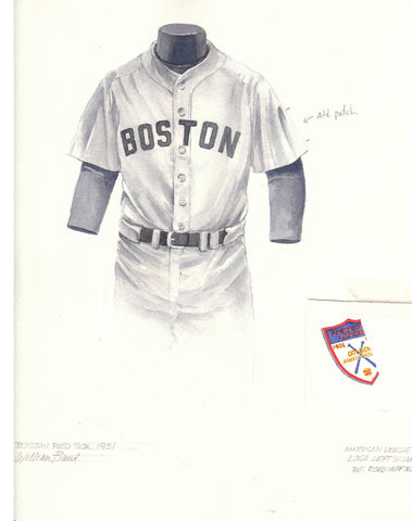 Boston Red Sox 1951 - Heritage Sports Art - original watercolor artwork - 1