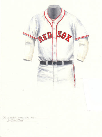 Boston Red Sox 1967 - Heritage Sports Art - original watercolor artwork - 1
