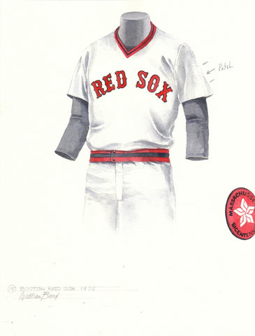 Boston Red Sox 1975 - Heritage Sports Art - original watercolor artwork - 1
