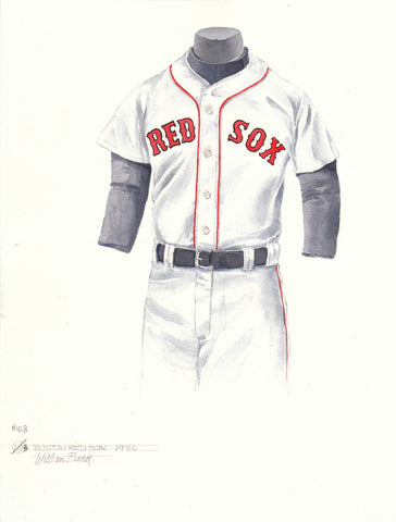 Boston Red Sox 1986 White - Heritage Sports Art - original watercolor artwork - 1