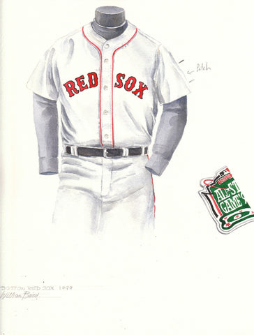 Boston Red Sox 1999 - Heritage Sports Art - original watercolor artwork - 1