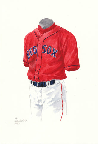 Boston Red Sox 2003 - Heritage Sports Art - original watercolor artwork - 1
