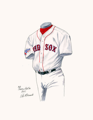 Boston Red Sox 2007 - Heritage Sports Art - original watercolor artwork - 1