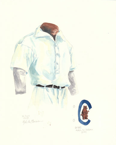 Chicago Cubs 1908 - Heritage Sports Art - original watercolor artwork - 1