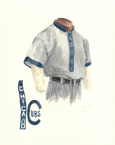 Chicago Cubs 1909 - Heritage Sports Art - original watercolor artwork - 1
