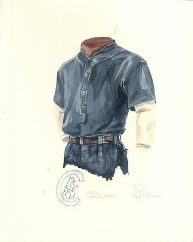 Chicago Cubs 1911 - Heritage Sports Art - original watercolor artwork - 1