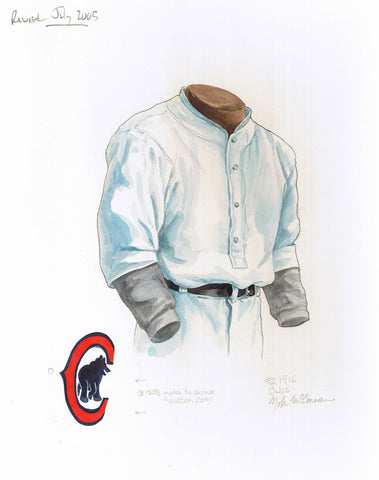 Chicago Cubs 1916 - Heritage Sports Art - original watercolor artwork - 1