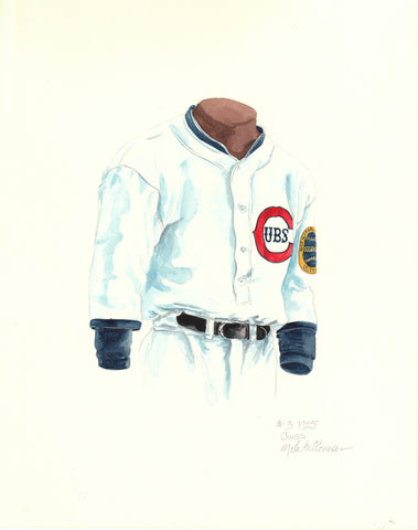 Chicago Cubs 1925 - Heritage Sports Art - original watercolor artwork - 1