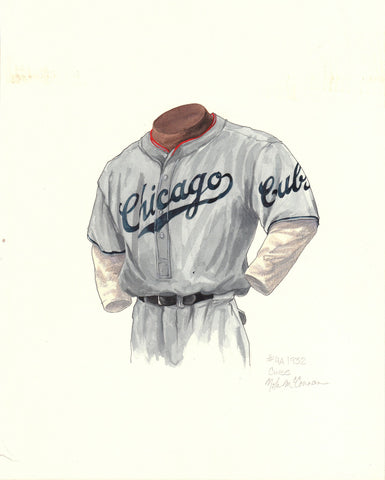 Chicago Cubs 1932 - Heritage Sports Art - original watercolor artwork - 1