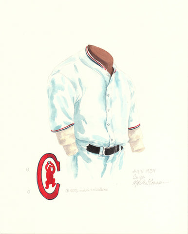 Chicago Cubs 1934 - Heritage Sports Art - original watercolor artwork - 1