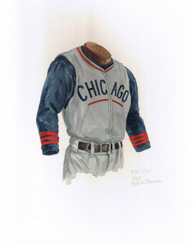 Chicago Cubs 1940 - Heritage Sports Art - original watercolor artwork - 1