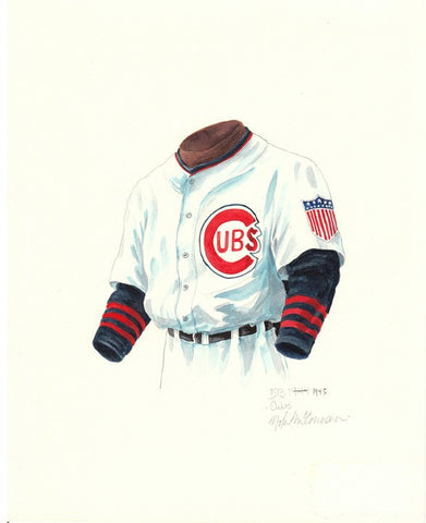Chicago Cubs 1945 - Heritage Sports Art - original watercolor artwork - 1