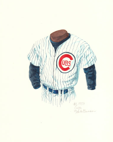 Chicago Cubs 1957 - Heritage Sports Art - original watercolor artwork - 1