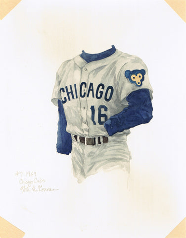 Chicago Cubs 1969 - Heritage Sports Art - original watercolor artwork - 1
